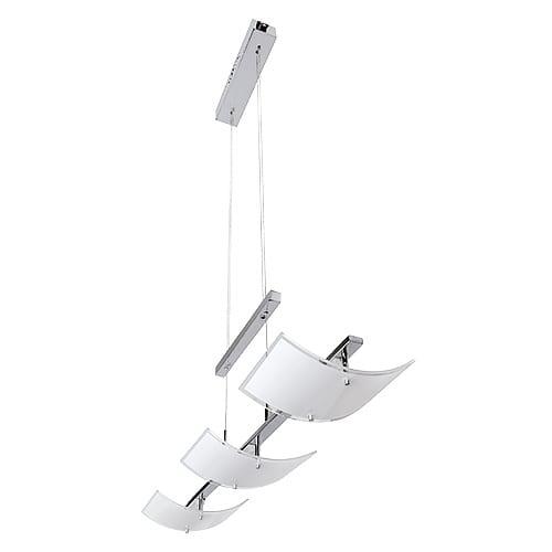 LED осв. тяло висящо 3x5W, 2700K, Хром, Топла светлина, Невлагозащитено
