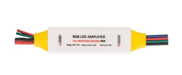 Професионален усилвател за RGB LED осветление 126W (12V), 5-24V DC, Водоустойчив IP63