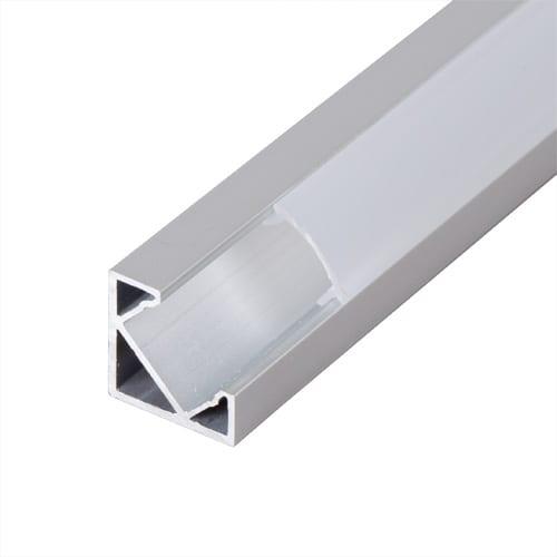 Алуминиев профил за LED лента, ъглов с борд,2м