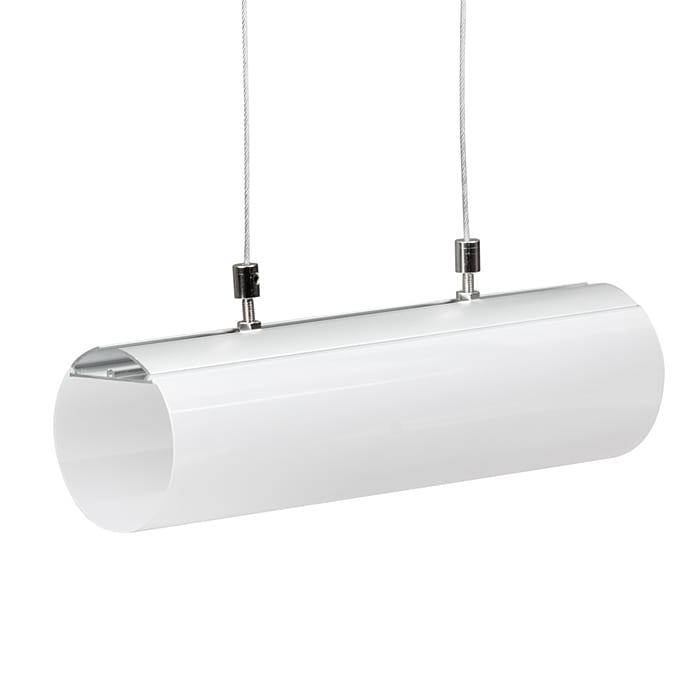 Алуминиев профил за LED лента, цилиндър 60мм,2м
