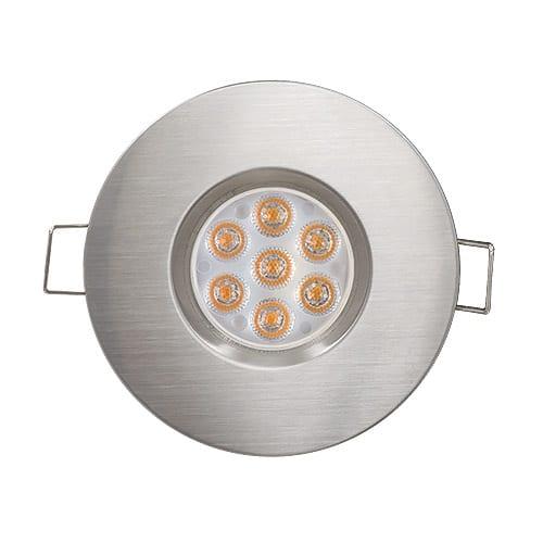 LED луна за вграждане насочена 6.5W, 2700K, IP44, 220V-240V AC, 45°, Топла светлина, Сатиниран никел, SMD 2835