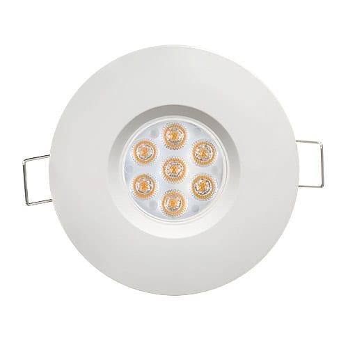 LED луна за вграждане насочена 6.5W, 2700K, IP44, 220V-240V AC, 45°, Топла светлина, Бяла, SMD 2835