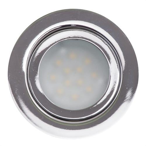 LED луна за вграждане 3W, 2700K, IP44, 12V DC, 120°, Топла светлина, SMD 2835