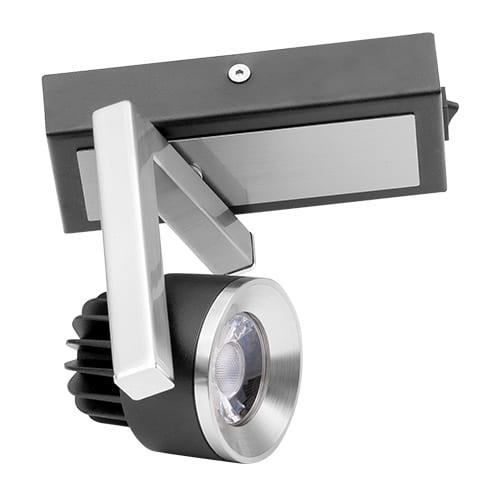 LED спот осв. тяло за стена 5W, 2700K, Графит, Топла светлина, Невлагозащитено