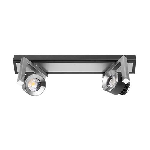 LED спот осв. тяло за стена 2х5W, 2700K, Графит, Топла светлина, Невлагозащитено