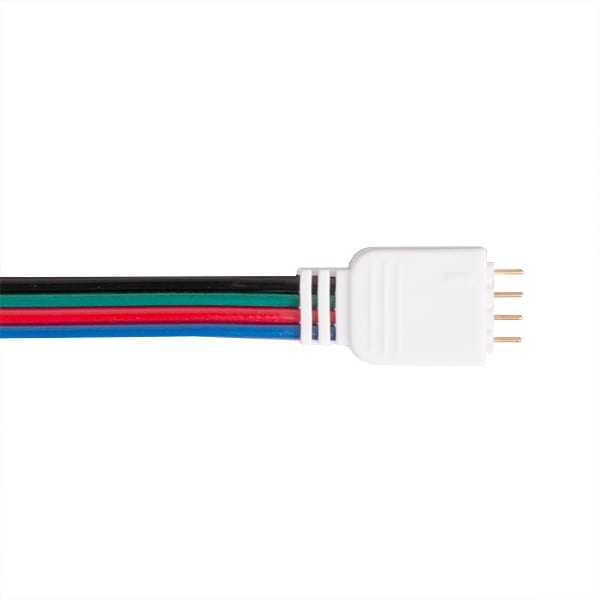 Гъвкав конектор за RGB LED лента (мъжки) 5бр/пакет