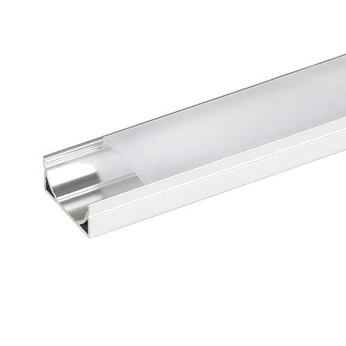 Алуминиев профил за LED лента, плитък широк, 2м