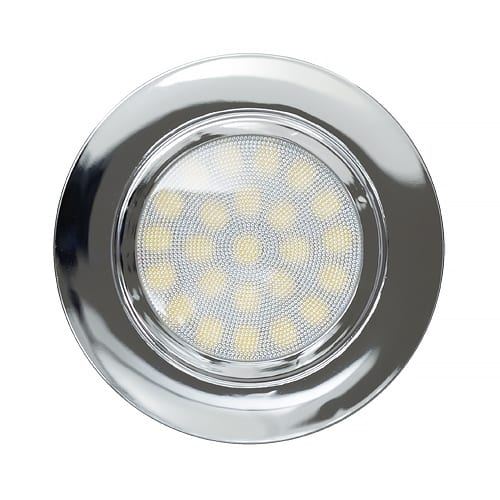 Мини LED луна за вграждане, 4W, 4200K, IP44, Хром, 220V-240V AC, 60°, Неутрална светлина, SMD 2835