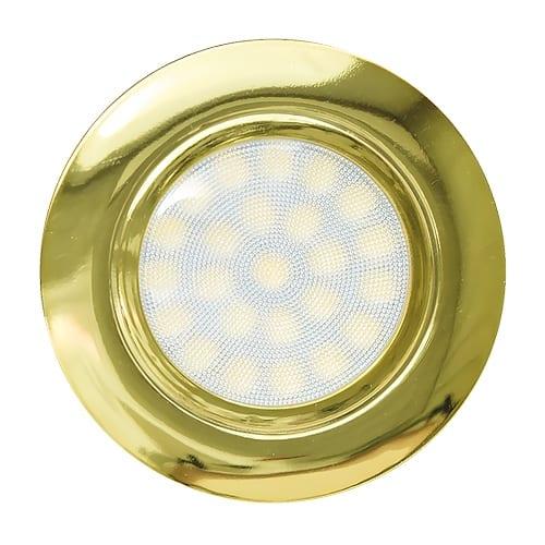 Мини LED луна за вграждане, 4W, 4200K, IP44, Злато, 220V-240V AC, 60°, Неутрална светлина, SMD 2835