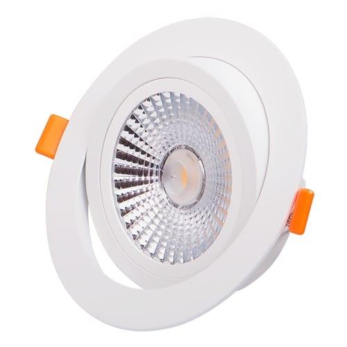 LED луна за вграждане подвижна 12W, 4200K, 220V-240V AC, 38°, Неутрална светлина, COB