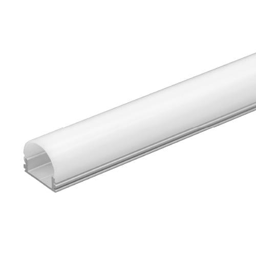 Алуминиев профил за LED лента, тесен плитък, 2м