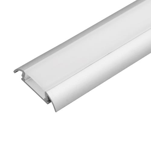 Алуминиев профил за LED лента за външен монтаж, тесен 2м