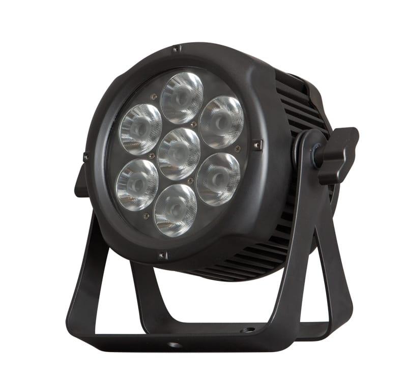 LED DMX прожектор 48W, RGBW, 220V-240V AC, 8°, IP65, CREE