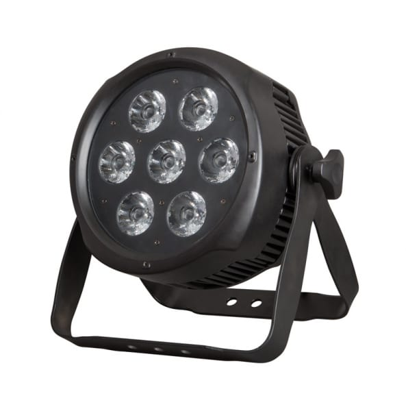 LED DMX прожектор 90W, RGBW, 220V-240V AC, 8°, IP65, CREE