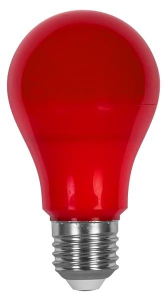 LED крушка / 6W / E27 / SMD 2835 / Червена