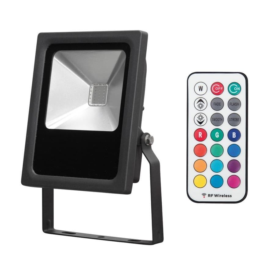 LED прожектор RGB RF 10W, IP65, 220V-240V AC, 120°, COB