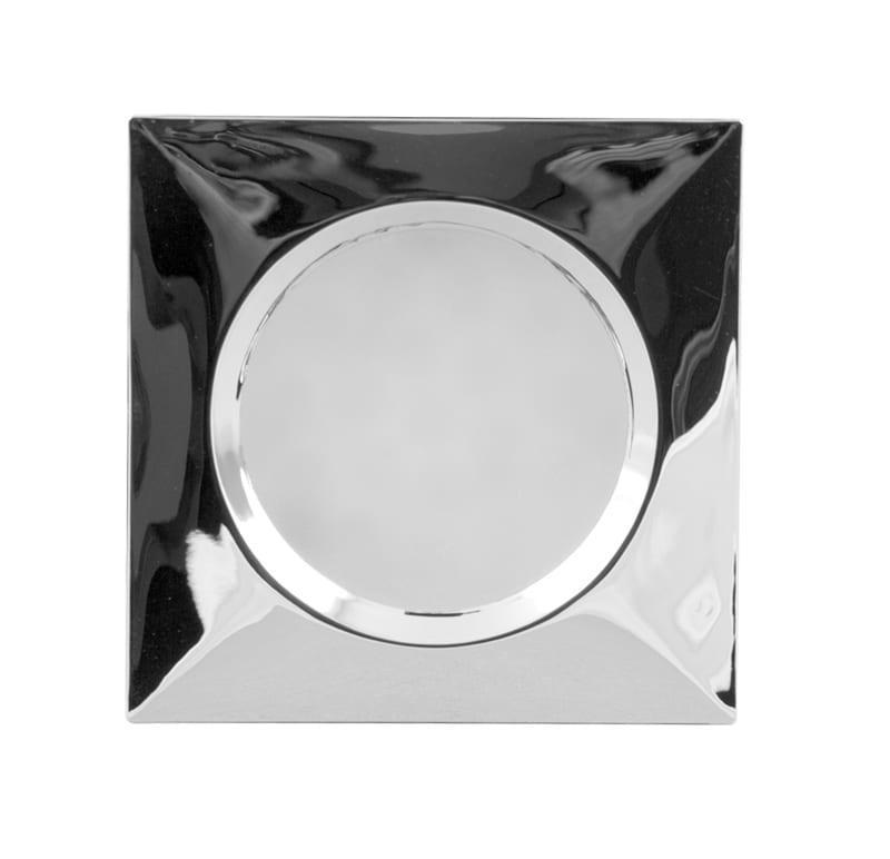 Мебелна светодиодна луна квадрат, 1.5W, 4000K, Хром, 12V DC, 120°, Неутрална светлина, SMD 3014