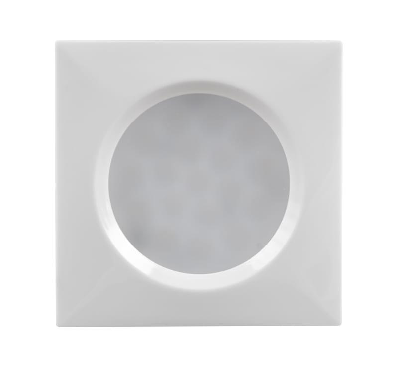 Мебелна светодиодна луна квадрат, 1.5W, 4000K, Бяла, 12V DC, 120°, Неутрална светлина, SMD 3014