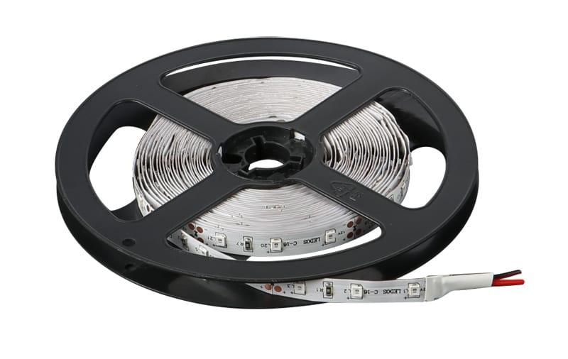 LED лента 4.8W/m, Червена светлина, 5м, 12V DC, Неводоустойчива, 60 LEDs/m, 120°, SMD 2835