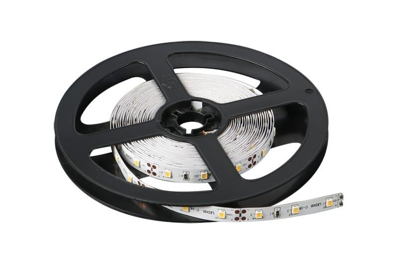 LED лента 4.8W/m, 6400K, 5м, 12V DC, Студена светлина, Неводоустойчива, 60 LEDs/m, 120°, SMD 2835