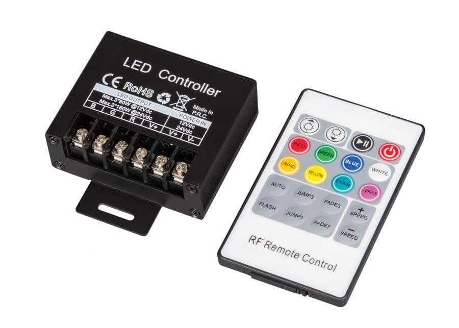 RF контролер за RGB LED осветление 240W(12V)12-24V DC, 20А
