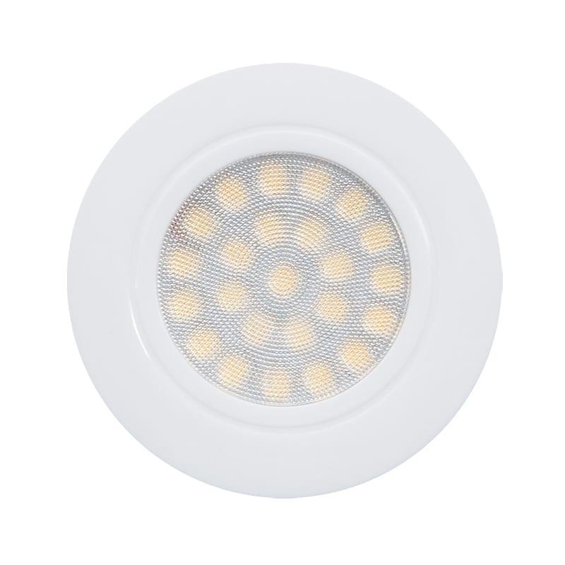 Мини LED луна за вграждане, 4W, 4200K, IP44, Бяла, 220V-240V AC, 60°, Неутрална светлина, SMD 2835
