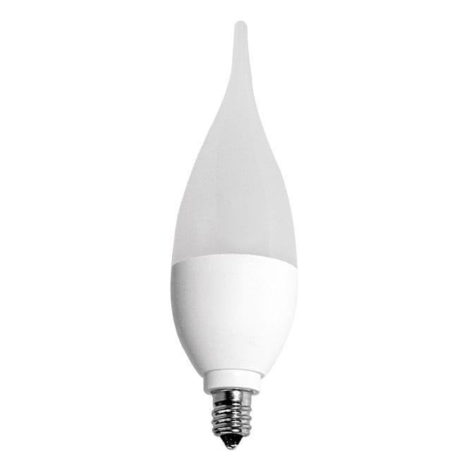 LED крушка / пламък / 5W / E14 / SMD 2835