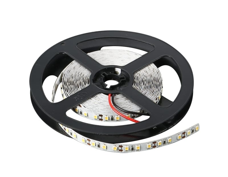 LED лента 9.6W/m, 6400K, 5м, 12V DC, Бяла светлина, Неводоустойчива, 120 LEDs/m, 120°, SMD 2835