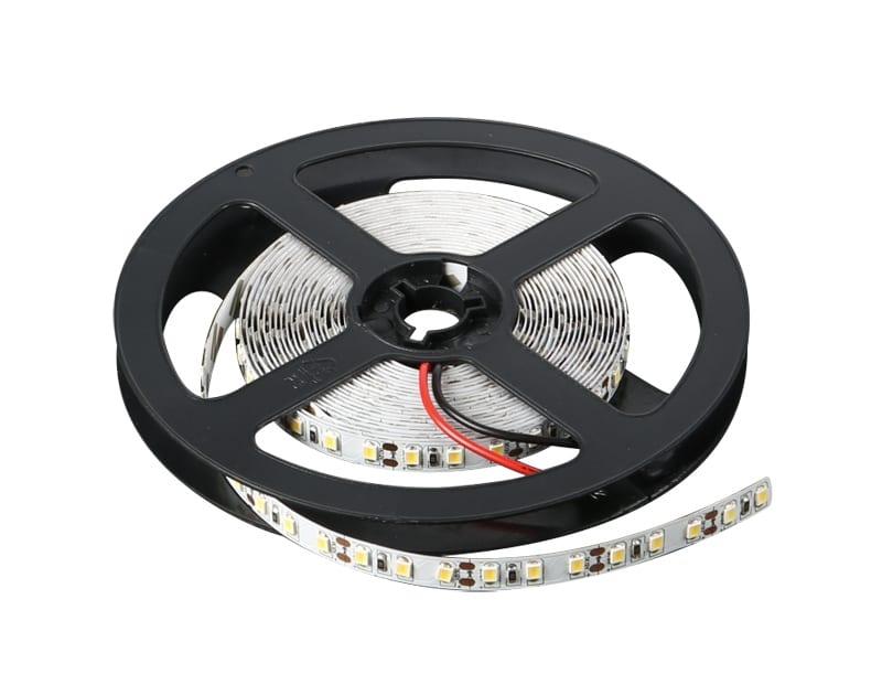 LED лента 9.6W/m, 3000K, 5м, 12V DC, Топло бяла светлина, Неводоустойчива, 120 LEDs/m, 120°, SMD 2835