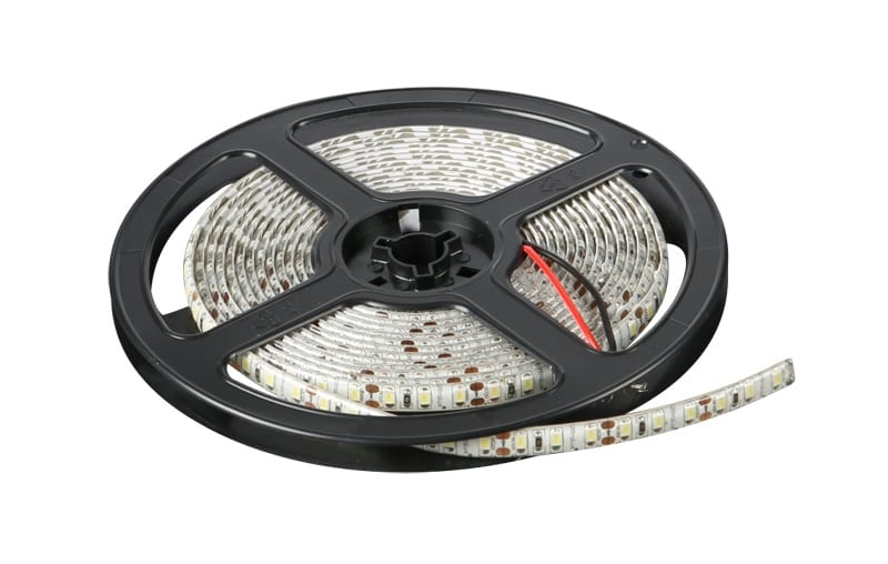 LED лента 9.6W/m, 5м, 12V DC, Водоустойчива IP65, 120 LEDs/m, 120°, SMD 2835