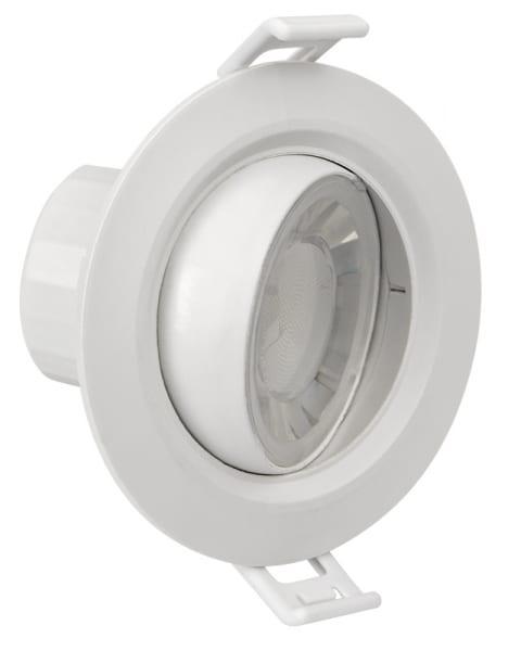 LED луна за вграждане подвижна 8W, кръг, 4200K, 220V-240V AC, 90°, Неутрална светлина, SMD 2835