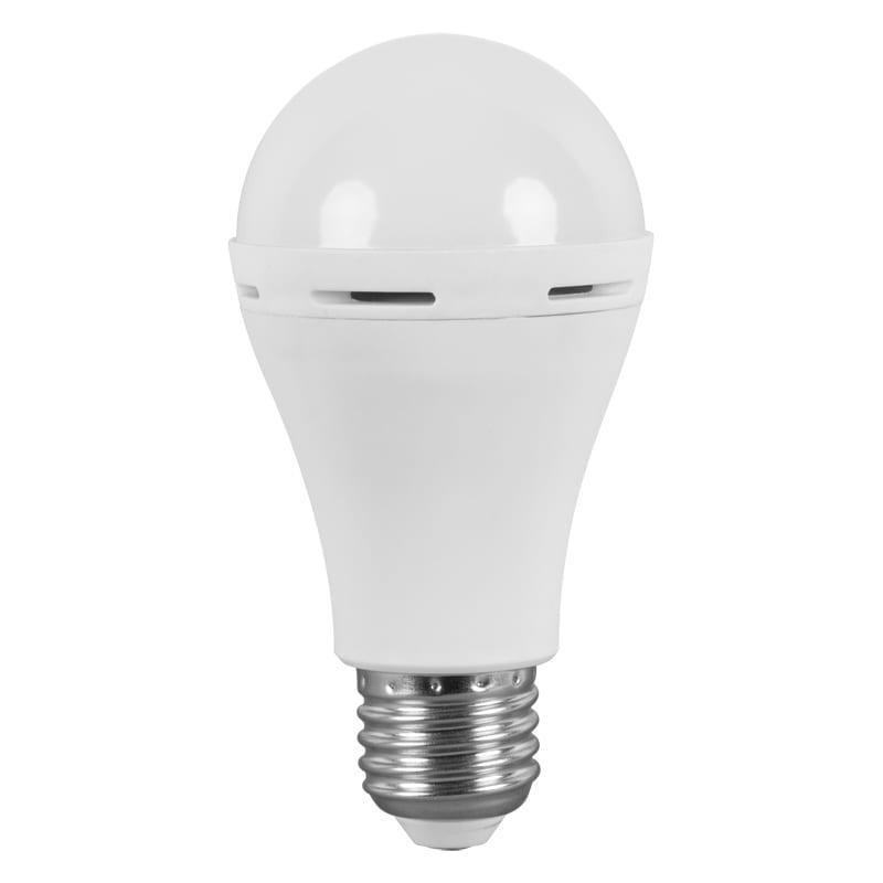 LED Крушка с вградена батерия A60 / 6W / E27 / 4200K / Неутрална светлина / SMD 2835