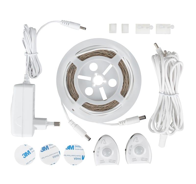 LED осветление за легло със сензор двустранен, 3W/m, 2x1,7m, 4000K, 220V-240V AC, 120°,Неутрална светлина, SMD 2835