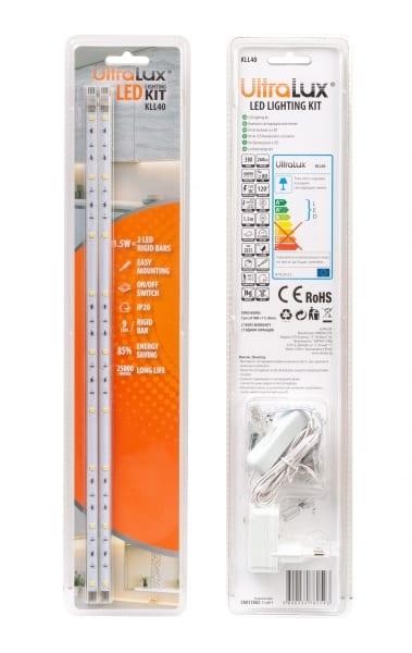 Комплект светодиодно осветление 3W, 4000K, 220V-240V AC, 120°, Неутрална светлина, SMD 2835