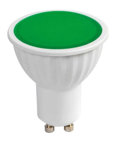 LED луничка / 5W / Gu10 / 220V-240V AC / SMD 2835 / Зелена