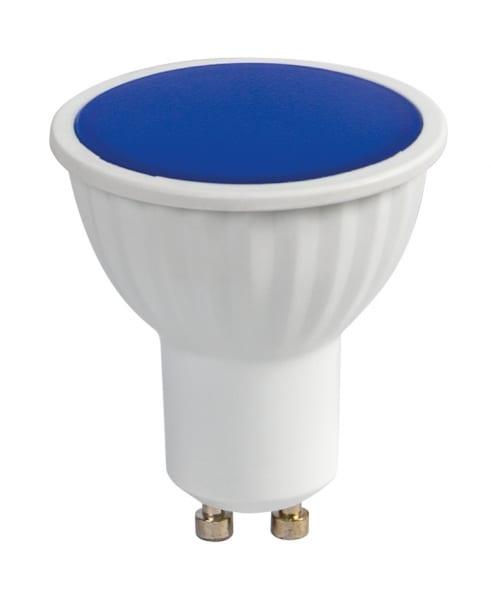LED луничка / 5W / Gu10 / 220V-240V AC / SMD 2835 / Синя