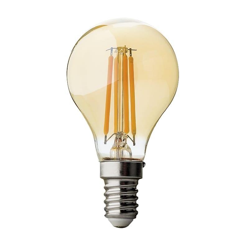 LED крушка / Димиращ филамент / 4W / E14