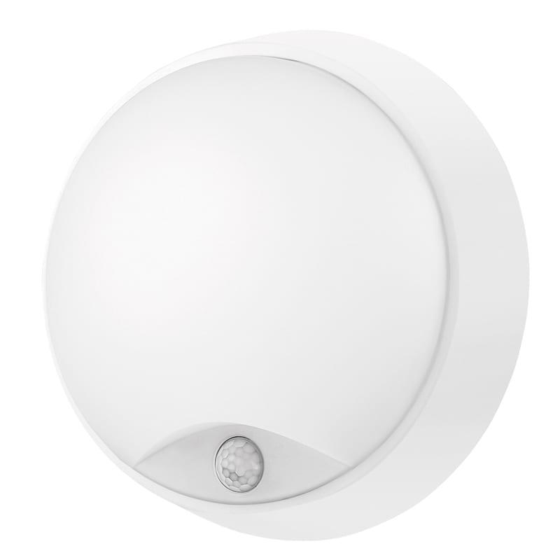 LED Влагозащитена плафониера с PIR сензор 14W, 4200K, Кръг, Бяла, Неутрална светлина, 220V-240V AC, IP54, SMD 2836