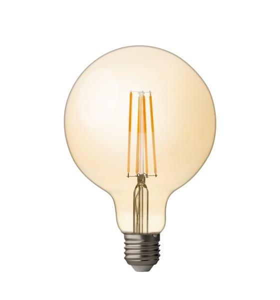 LED крушка / Димиращ филамент / 4W / 2500К / E27 / Амбър