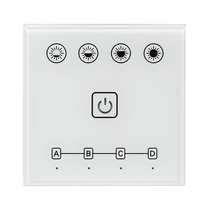 Smart 2.4G RF TOUCH панел за стена за LED осветление, 4 зони, 220V-240V AC