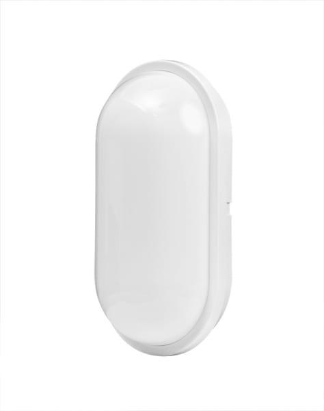 LED Влагозащитена плафониера 24W, 4200K, Eлипса, Бяла, 220V-240V AC, IP54, SMD 2835