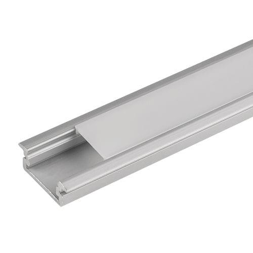 Алуминиев профил за LED лента, плитък за вграждане, 3м