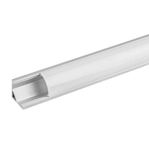 Алуминиев профил за LED лента, ъглов, 3м
