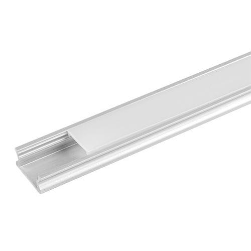 Алуминиев профил за LED лента, плитък, 3м