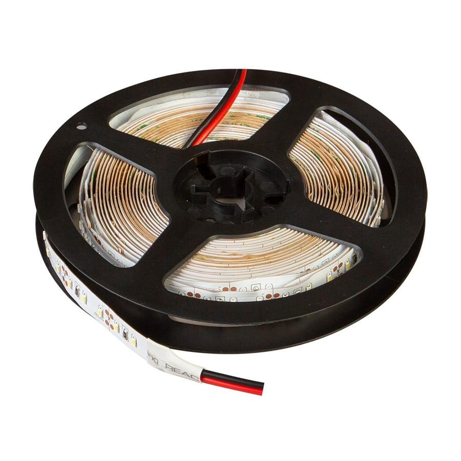 LED лента 14.4W/m, 5м, 12V DC, Неводоустойчива, 120 LEDs/m, 120°, SMD 3014