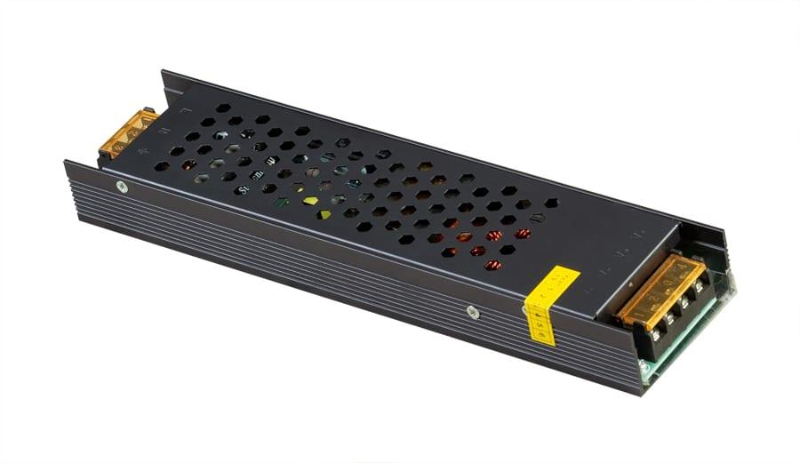 Захранване за светодиодна лента, Невлагозащитено, Слим, 300W, 12V DC
