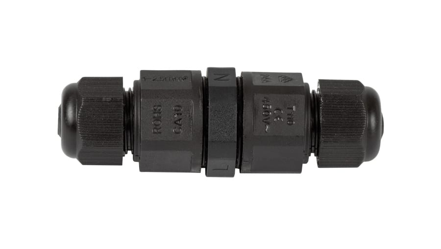 Влагозащитен конектор L16, 3 пина, 16А, IP68, 1бр. Черен