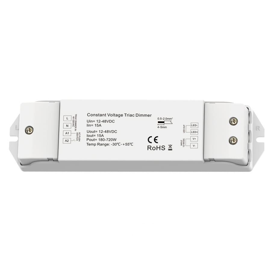 Контролер с TRIAC, PUSH управление 180W-720W, 12-48V DC, 15А