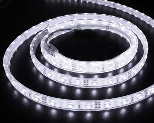 LED лента 7.2W/m, 3000K, 5м, 12V DC, Топло бяла светлина, Неводоустойчива, 30 LEDs/m, 120°, SMD 5050