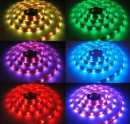 RGB - LED лента, 5м, 12V DC, Водоустойчива IP65, 120°, SMD 5050